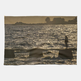 River Plater River Scene at Montevideo Towel