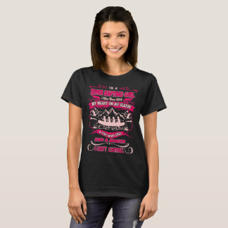 River Rafting Girl Heart On Sleeve Fire In Soul T-Shirt