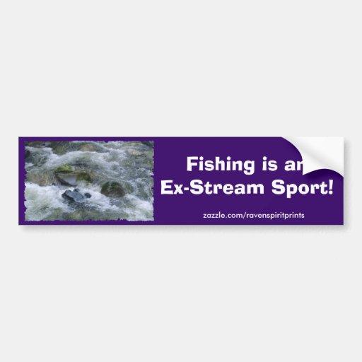 RIVER RAPIDS Fisherman's Bumper Sticker