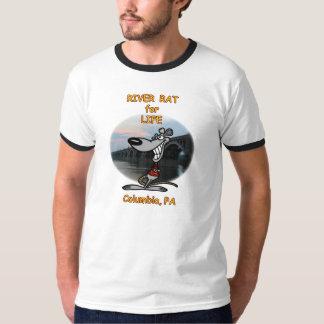 'RIVER RAT FOR LIFE - COLUMBIA PA' Design. T-Shirt