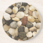 River Rock Stone Background - Customized Template Coaster