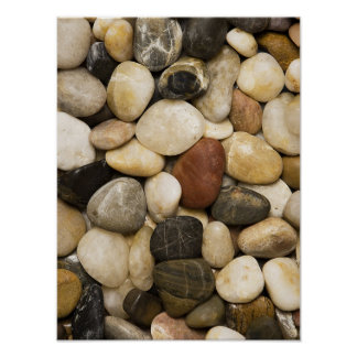 River Rock Stone Background - Customized Template Poster