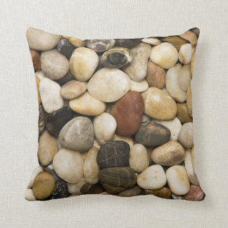 River Rock Stone Background - Customized Template Throw Pillow