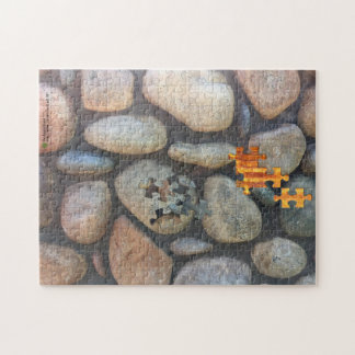 River Rock Wall Close-Up Photograph Jigsaw Puzzle