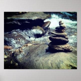 river rocks 11x14 Matte Poster