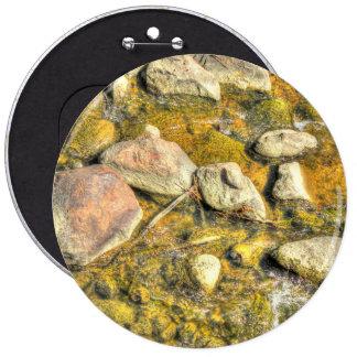 River Rocks 6 Inch Round Button