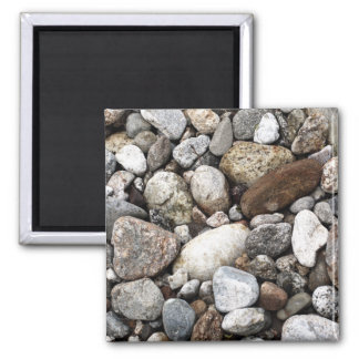 River Rocks and Pebbles Square Magnet