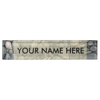 River Rocks Beach Pebbles Name Plate