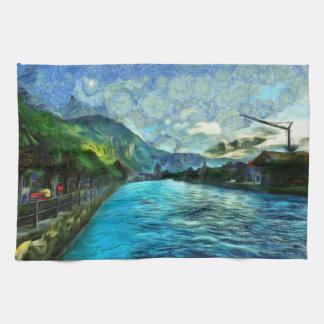River running through Interlaken Towels