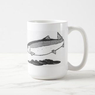 River salmon coffee mug