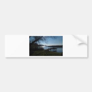 River Scene Bumper Stickers
