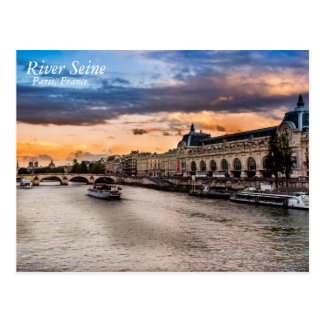 River Seine, Paris Postcard