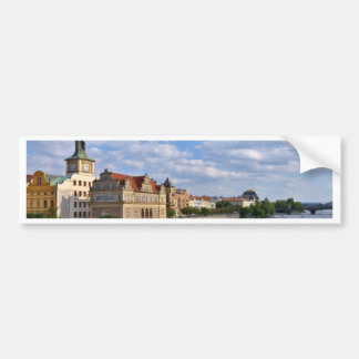 River side of Prague, Republic Czech, Bumper Sticker