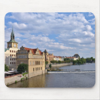 River side of Prague, Republic Czech, Mouse Pad