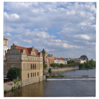 River side of Prague, Republic Czech, Napkin