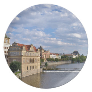 River side of Prague, Republic Czech, Plate