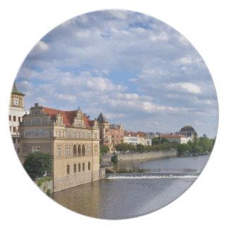 River side of Prague, Republic Czech, Plates