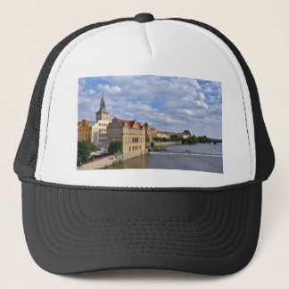 River side of Prague, Republic Czech, Trucker Hat
