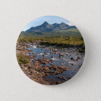 River Sligachan, Isle of Skye, Scotland 2 Inch Round Button