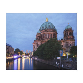 River Spree and Cathedral in Berlin, Germany Canvas Print