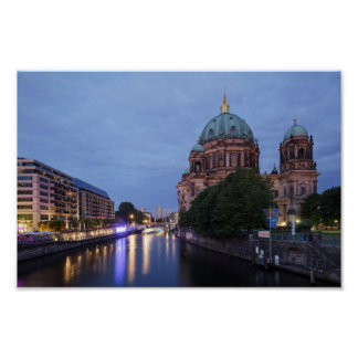 River Spree and Cathedral in Berlin, Germany Poster