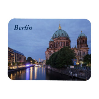 River Spree and Cathedral in Berlin, Germany Rectangular Photo Magnet