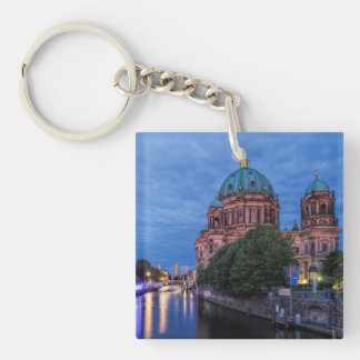 River Spree and Cathedral in Berlin Single-Sided Square Acrylic Keychain