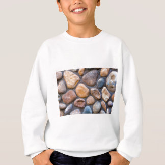 River Stone Rock Wall Background Sweatshirt