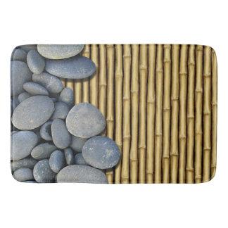 River Stones and Bamboo Bath Mat