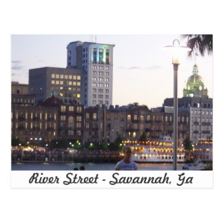 River Street - Savannah, Georgia Postcard