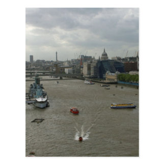 River Thames In London England Postcard