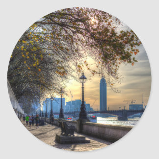 River Thames Path Classic Round Sticker