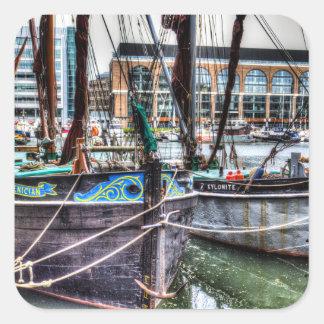 River Thames Sailing Barges. Square Sticker