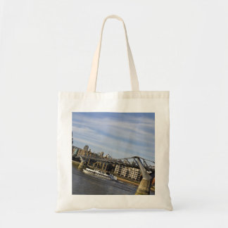 River Thames Uphill Tote Bags