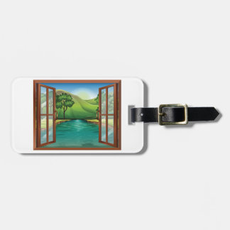 River Through An Open Window Luggage Tags