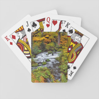 River through forest, Fall, Oregon Playing Cards