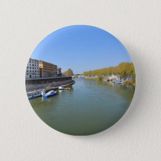River Tiber in Rome, Italy 2 Inch Round Button