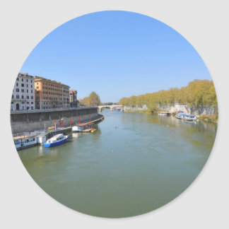 River Tiber in Rome, Italy Classic Round Sticker