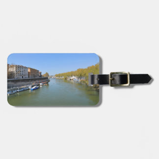 River Tiber in Rome, Italy Luggage Tag