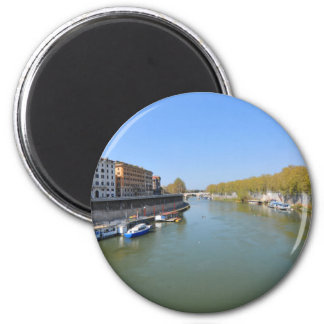 River Tiber in Rome, Italy Magnet