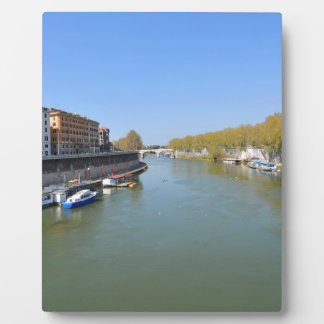 River Tiber in Rome, Italy Plaque