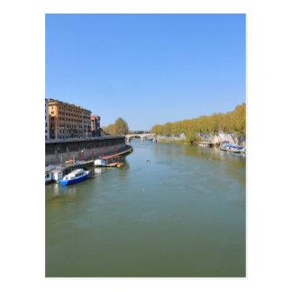 River Tiber in Rome, Italy Postcard