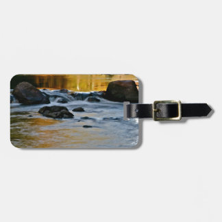 RIVER TURNING INTO LIQUID GOLD LUGGAGE TAG