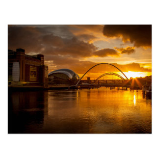 River Tyne at Sunset Postcard