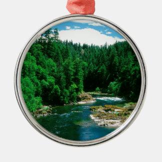 River Umpqua Douglas County Oregon Metal Ornament