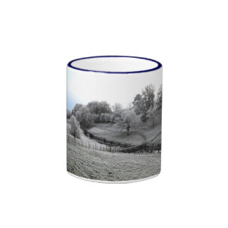 River Valley one frosty morning Ringer Coffee Mug