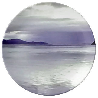 River View Dinner Plate Purple