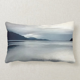 River View Throw Pillow in Blue
