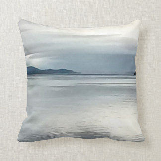 River View Throw Pillow in Blue  16 x 16