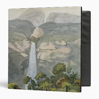 River Vinagre Waterfall, near the Puraci Volcano, 3 Ring Binder